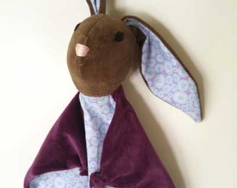 Baby Bunny Blanket , All Natural Materials,Purple