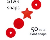 50 sets Red Star KAM Snaps - B1 KAM snaps . #700209