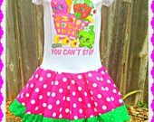 girls Shopkins dress Little Sweetie Smart Cookie 2T 3T and 4T