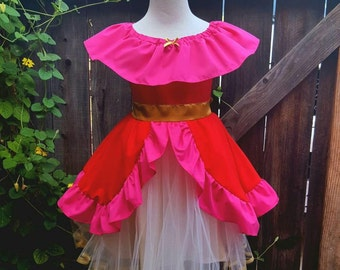 Elena of Avalor dress, princess Elena of Avalor costume, Elena birthday, princess Elena party, girls Halloween costume