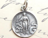 St Margaret Medal - Patron of childbirth & pregnant women- Antique Reproduction