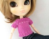 pinky short-sleeved sweater for pullip and blythe