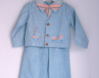 Vintage toddler boys spring suit by tiny tots 24 months