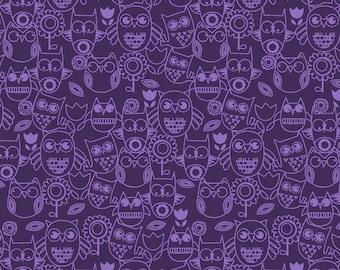 Owls Purple Wings n Things Studio E Fabric 1 yard