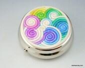 Pastel Rainbow Pill Box in Polymer Clay Filigree