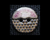 Handmade Ceramic Button: Cobblestone Style Stoneware
