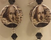 RESERVED FOR CLAIRE!!!! Shakespeare Paper Earrings - silver findings