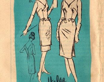 1960s Mail Order A802 Designer UNCUT Vintage Sewing Pattern Misses Slim Evening Dress Size 12 Bust 32