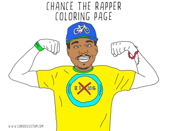 Chance The Rapper Adult Coloring Page Rapper Coloring Book
