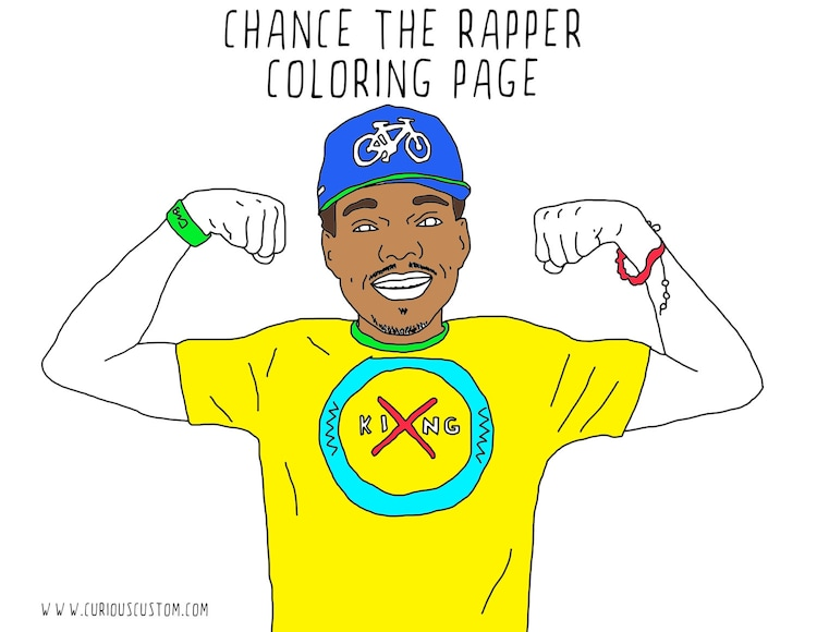 Chance The Rapper Adult Coloring Page Rapper By Curiouscustom