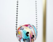 Hand Blown Glass Jewelry // Marble // Hand Blown Glass // Long Necklace