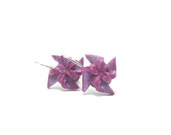 Pinwheel Earrings, Miniature Jewelry, Polymer Clay Jewelry