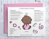 Project Baby Girl - Blank Architecture Construction Card