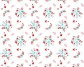 Vintage Market Riley Blake cotton fabric - Vintage Floral VM4564 White, select a length