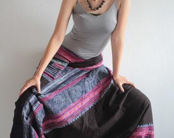 Talk of the town 100 % Hemp pants Dark brown colour, Harem, Moung pant ,