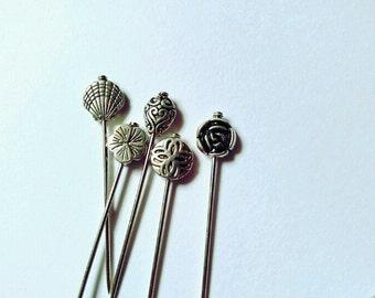 Metal Pins -Hijab Pins , Hat Pins , Needlework