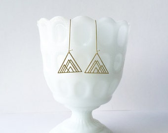 Overlapping Triangles Earrings   ATL-E-114