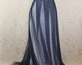 """Gothic Bridal Corset Trained Tulle Skirt Outfit-To Fit A Natural 35-38"""" Waist"""