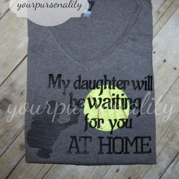 softball mom shirt softball dad my daughter will be