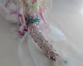 CHAMPAGNE, ball jointed puppet art doll, paper clay sculpture, handmade in the USA