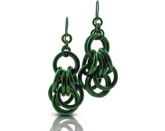 Green Everyday Earrings // Everyday Dangle Earrings // Gift Ideas for Best Friend Women // Summer Everyday Earrings