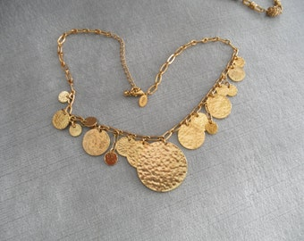 Vintage JOAN RIVERS Coin Necklace
