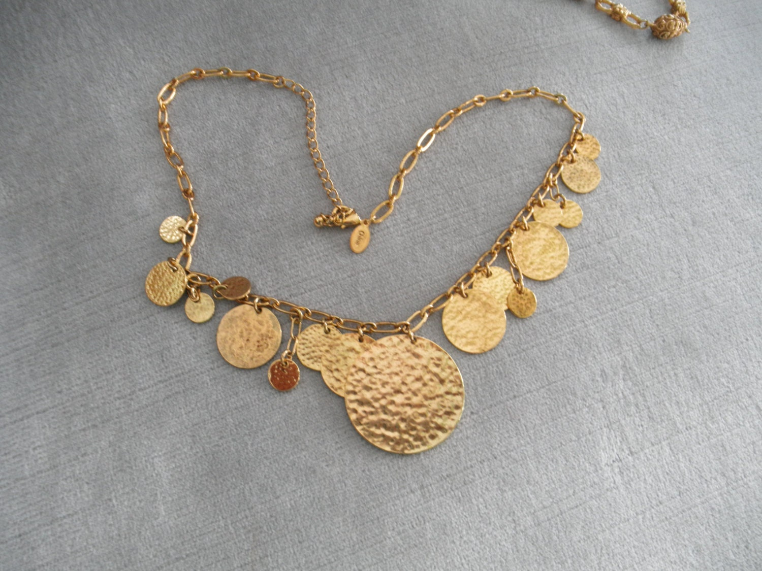 Vintage joan rivers coin necklace for Joan rivers jewelry necklaces