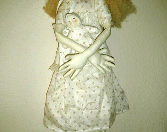 Handmade Folk Art Large OOAK Doll - Lizanna From the South