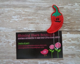 Paper Clips - Red And Green Hot Chile Pepper With A Mustache Paper Clip Or Bookmark - Cinco de Mayo Chili Food Accessories For Planners