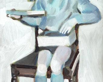 present - original acrylic painting on mdf- boy painting- children art- wall art- wall decor- home decor
