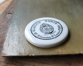French Maison Dorin Powder Disc, Paris Cosmetics, French Pressed Powder, Antique Porcelain Pot Lid, Victorian Era