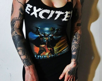 Exciter Long Live The Loud Harness Mini Dress