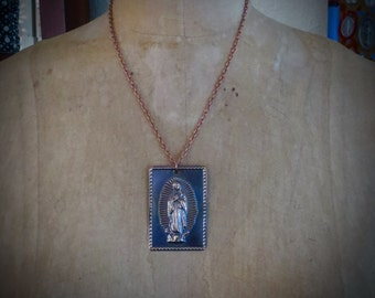 Copper Milagro GUADALUPE Pendant Necklace-  Serious protection that we all need daily