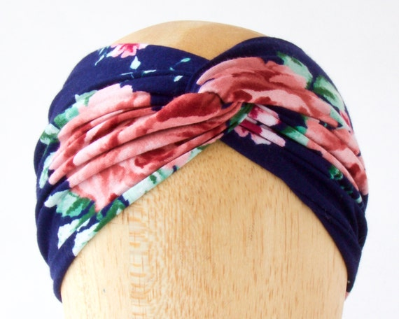 Turban Headwrap Turban Headband Hair Accessory Bohemian Style Spring Accessory 1920s Headband Floral Headband Boho Chic Turban Hat Headscarf