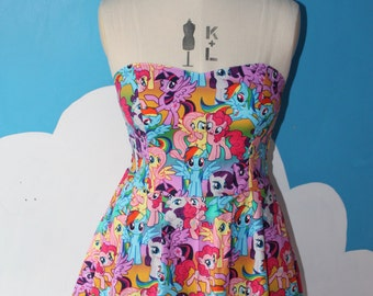 my little pony packed sweet heart dress