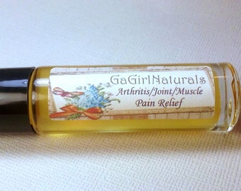 SALE Natural Arthritis/Joint/Muscle Pain Relief, Aromatherapy, Essential Oils