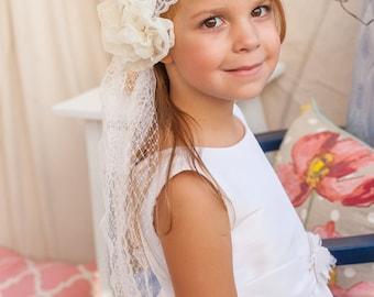 Flower Girl Headband Veil