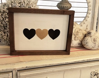 Heart Sign | Wood Heart Sign | Love Sign | Modern Rustic Decor | Rustic Decor | Wood Sign | Wooden Sign | Wedding Decoration | Wedding Sign