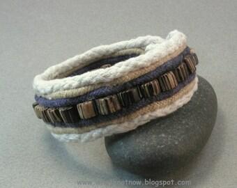 wood bead cuff bracelet one button cuff cord fabric bracelet beaded cuff bracelet 3803