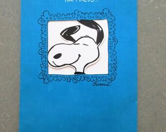 Vintage Snoopy Card, Peanuts Greeting Card, Vintage Card, LARGE Snoopy Greeting Card, Vintage Peanuts, Charles Schulz, Hallmark Card