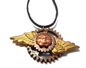 Steampunk Style Icarus Icon One of a Kind Assemblage Pendant