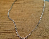 "Sterling Silver Multi-pattern Statement Chain No Clasp 26"" long"