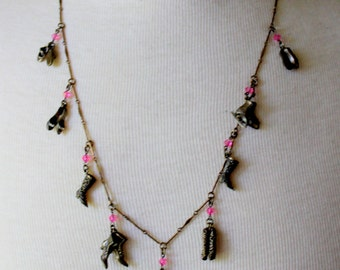 SWEET ROMANCE Necklace Shelley Cooper SHOE Lovers Vintage