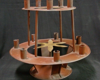 TIN CANDLE STAND
