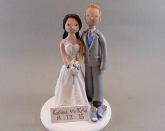 Cake Topper - Bride & Groom Custom Made Wedding Cake Topper