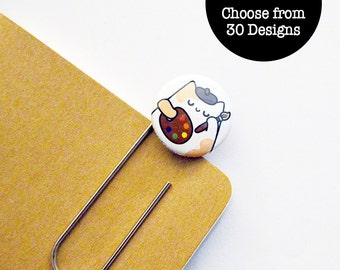Cat Bookmark, Cute Planner Bookmark, Cute Bookmark, Book Lover, Paperclip Bookmark, Cat Lover Gift, Animal Lover, Gift Under 5, roocharms
