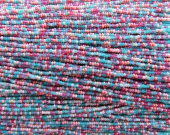 11/0 Coral Reef Mix Czech Glass Seed Beads 12 Strand Hank (ES24)