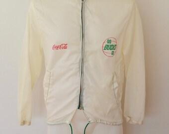Vintage MILWAUKEE BUCKS Coca Cola nylon windbreaker jacket 1970's