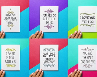 set of valentine cards romantic cards anniversary cards love cards ways to say i love you stationery set valentines day cards