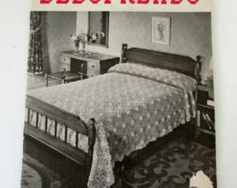 1938 Crocheted Bedspreads Pattern Booklet book no 122 Crochet Patterns Vintage Crochet Book